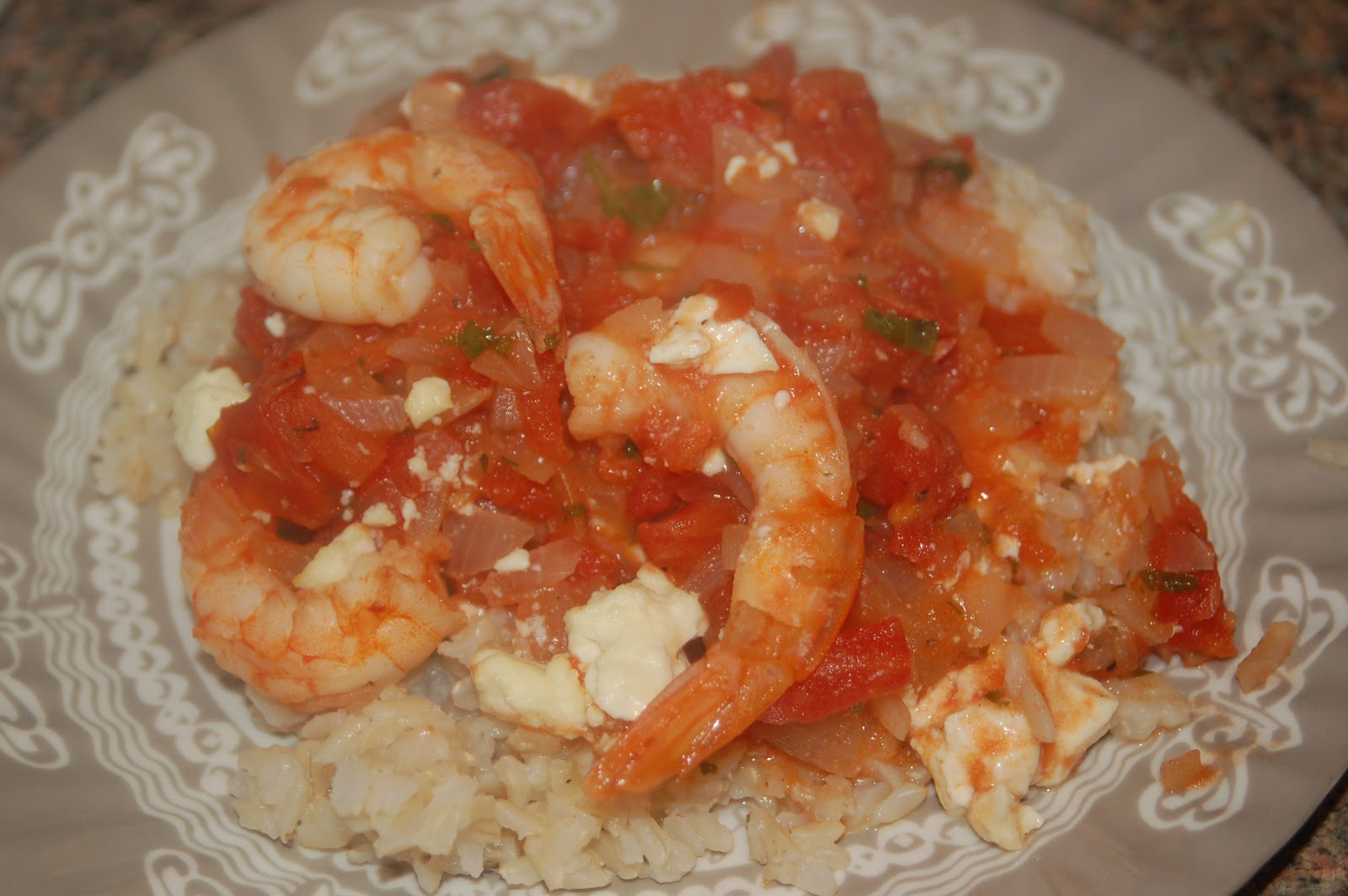 Sofull Sista: Baked Shrimp with Tomatoes and Feta