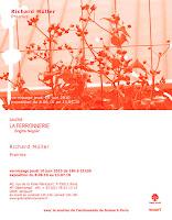 Richard Müller: carton exposition Prairies galerie la Ferronnerie Paris