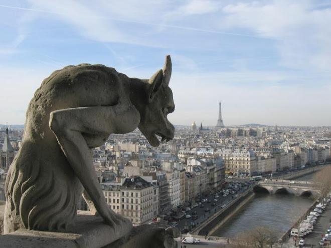 Quimera na Catedral de Notre-Dame de Paris.