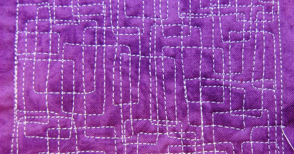 The Free Motion Quilting Project: Day 249 - Pipe Maze