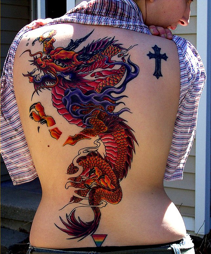 girl tattoo sleeves. Girl Tattoo Dragon