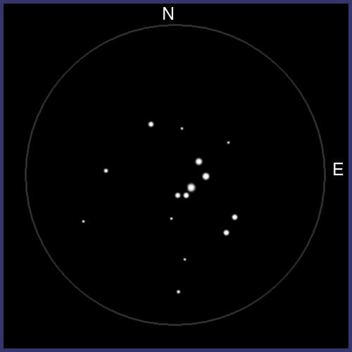 NGC1662, cúmulo abierto en Orión. NGC1662-02
