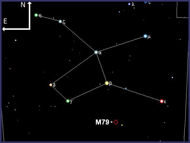 M79, globular en Liebre con prismáticos. M79-0002