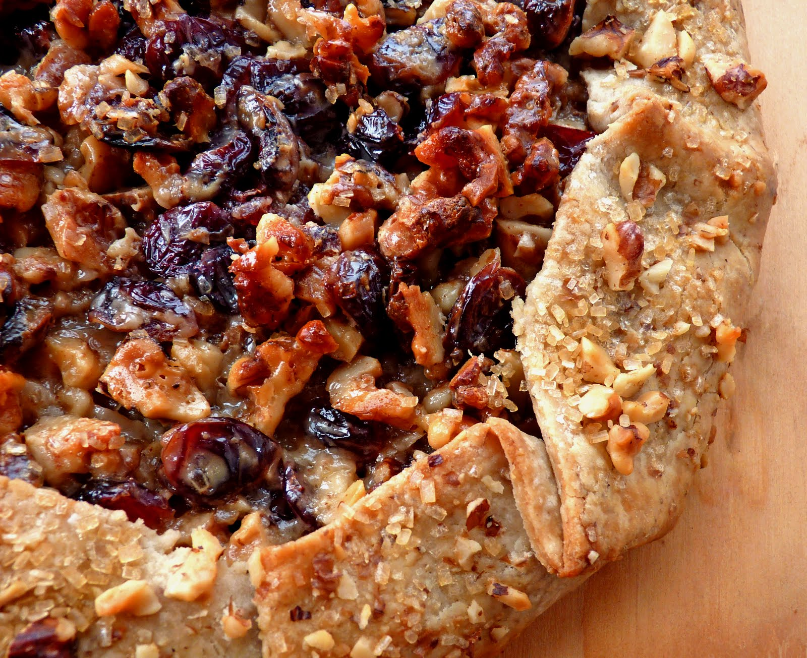 Cranberry Walnut Crostata