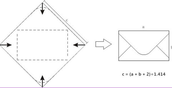molde em papel para fazer as dobraduras sem erros, não esqueça de