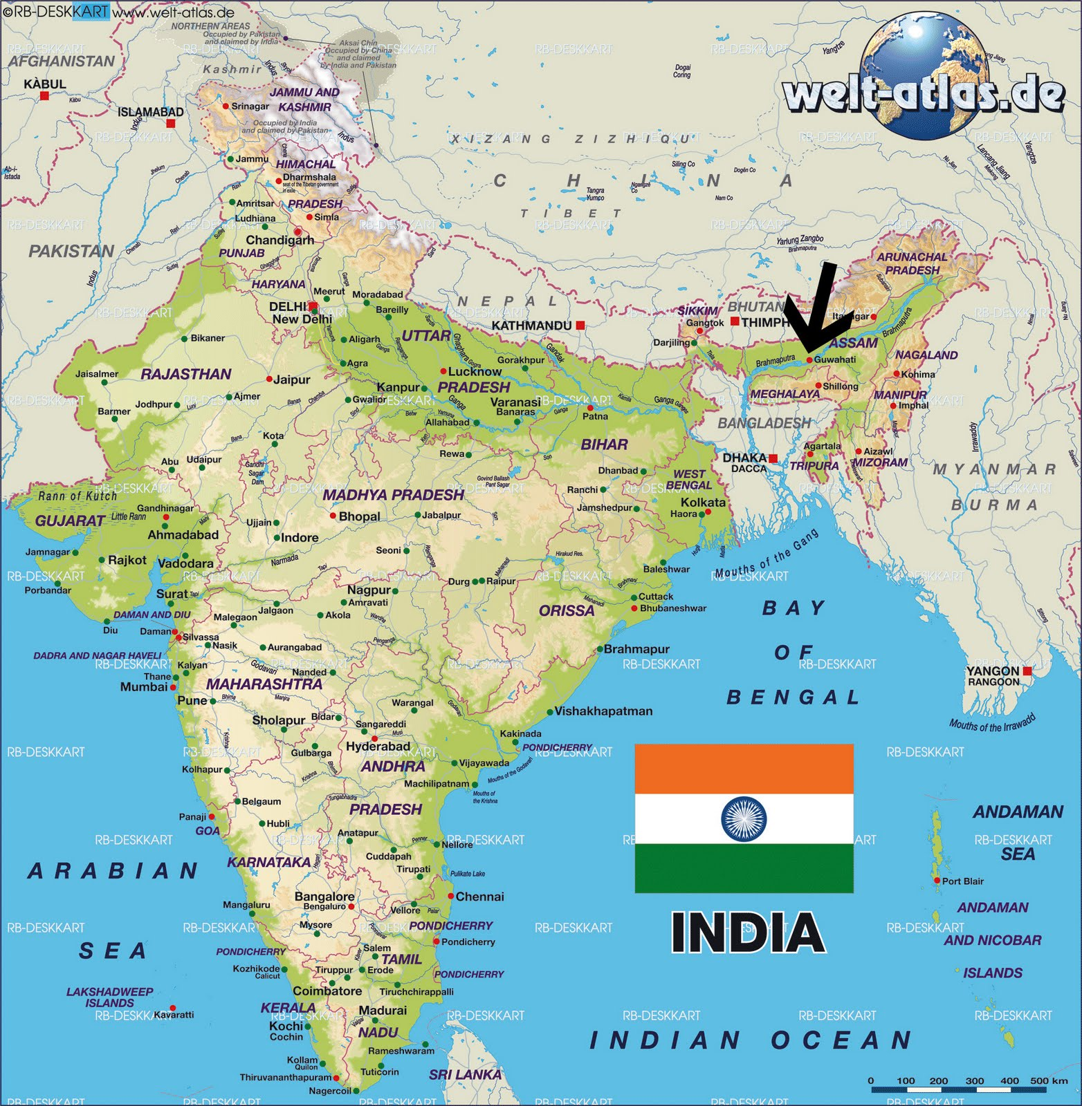Guwahati Map In India