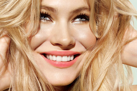 The best make-up colors for women with blond hair are the shades of baby