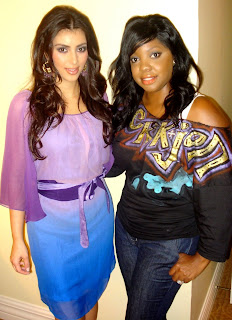 kim kardashian with her celebrity makeup artist brandy gomez duplessis