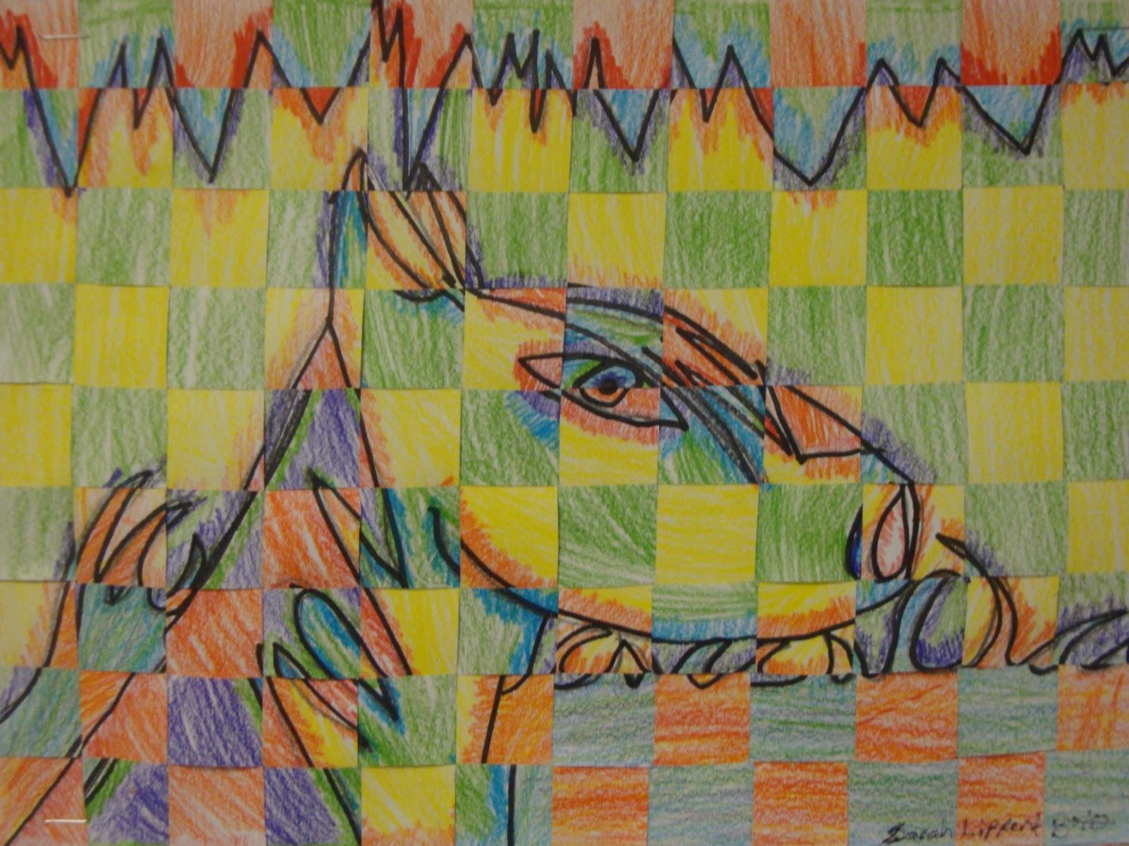 Art. Paper. Scissors. Glue!: Warm Color Cool Color Weavings