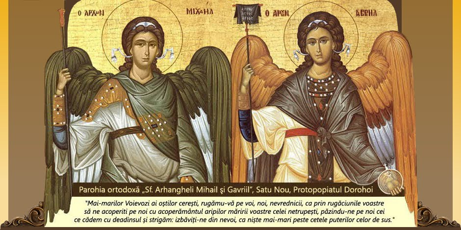 "Parohia ortodoxă ""Sf. Arhangheli Mihail și Gavriil"", Satu Nou, Protopopiatul Dorohoi"