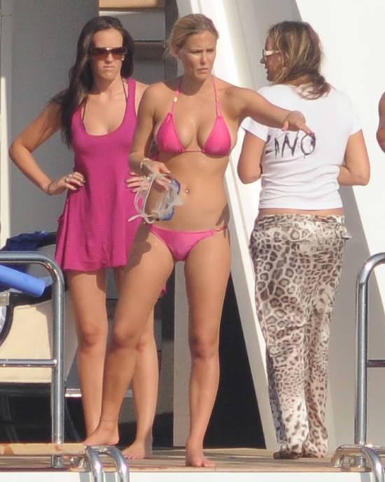 Bar Refaeli Bikini Candid in Sardinia
