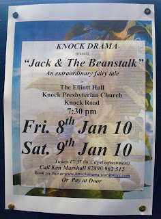 Poster for Knock Drama's January 2010 production of Jack and the Beanstalk