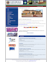 Castlereagh Borough Council homepage - captured in September 2009