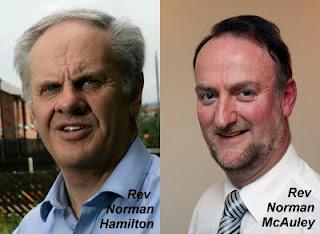 Rev Norman Hamilton and Rev Norman McAuley