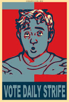 The Daily Strife Obama-style poster
