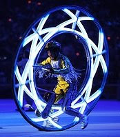 Light wheels at the closing ceremony of the Beijing Olympics 2008