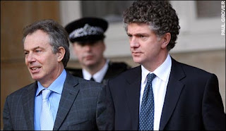 Tony Blair and his chief-of-staff Jonathan Powell