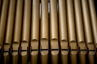 Phil O'Kane's photo of the organ pipes in 1st Presbyterian Church, Belfast