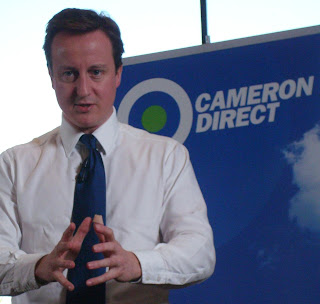 David Cameron speaking at a Cameron Direct event in Belfast