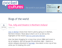 Alan in Belfast featuring in Blogs of the World section of Pocket Cultures website