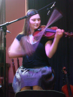 Zoe Conway playing in CQAF in The John Hewitt in2009