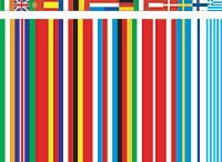 original 15 state version of Rem Koolhaas' EU barcode flag
