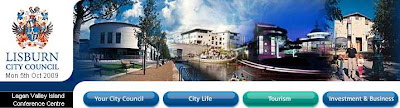 Snippet from Lisburn City Council website homepage