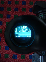 Through a cameramans's viewfinder