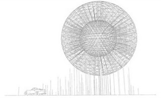artist's impression of 'Rise' sculpture, planned for Belfast's Broadway roundabout