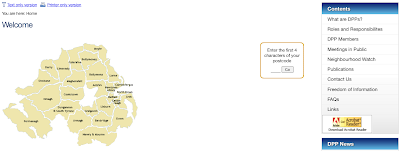 Clickable map and postcode search on DPP homepage