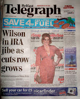 Cleavage on Belfast Telegraph front page