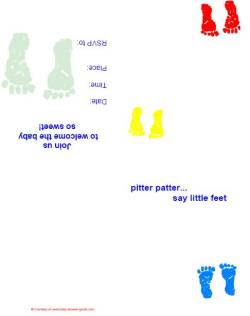 Baby Footprint Invitation