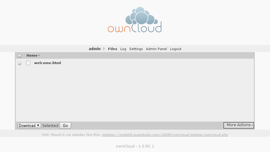 I Had Some Free Minutes Today At Akademy, So I Decided To Build An OwnCloud  Appliance. I Did A Few Iterations In SUSE Studio And There You Go: OwnCloud  In A ...