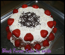 Black Forest Cake + whipping cream + Fresh Fruit