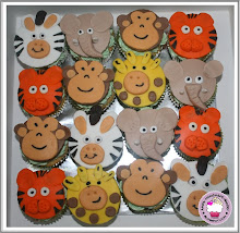 Animals theme fondant cupcakes
