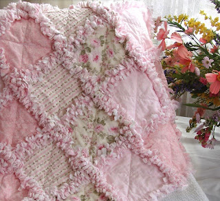Baby Crib Rag Quilt Sewing Pattern Easy by avisiontoremember