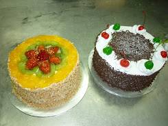 Fruit Flan/Black Forest Cake