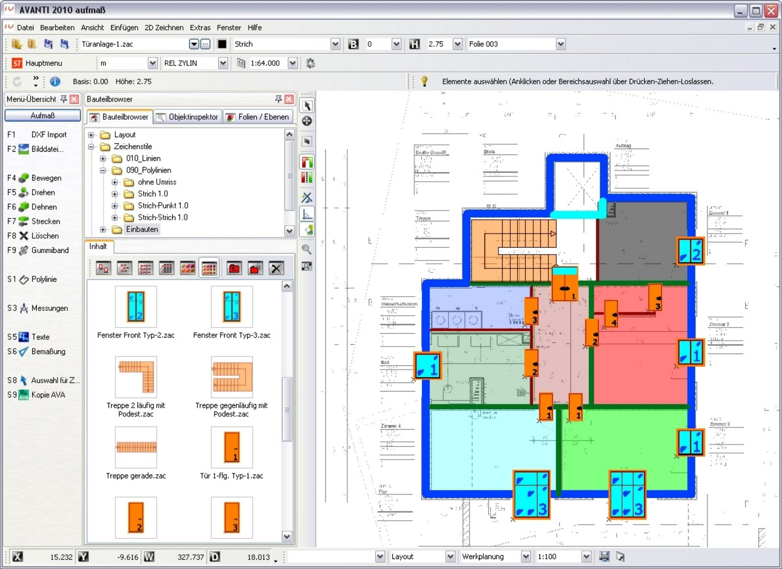 Ava software avanti 2010 von softtech gmbh for Space planning software