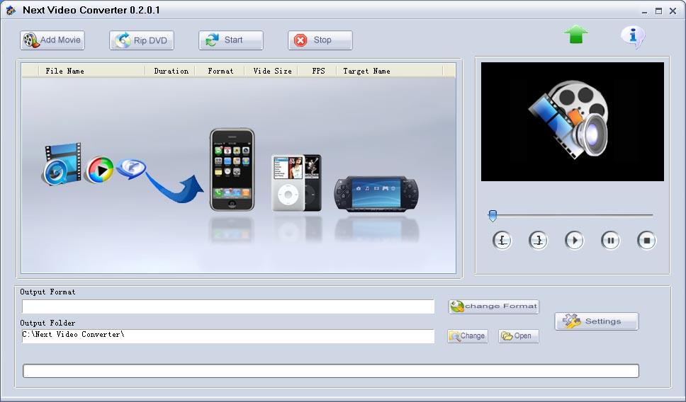 Next Video Conveter Freeware Multifunctional Video Converting