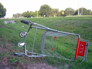 Ditched Cart, by diff complex, near CVS