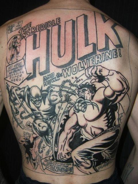 comic tattoos. Comic Tattoos