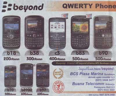 Harga HP Beyond Surabaya