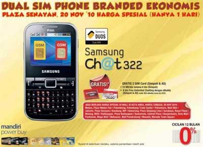 Samsung DUOS Dual SIM Ch@t322