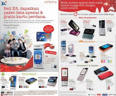 Daftar Harga Sony Ericsson Bulan Desember