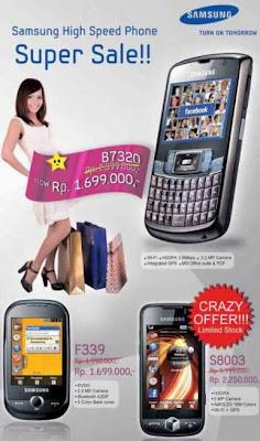 Harga Samsung S8009, Samsung F339 and Samsung B7320
