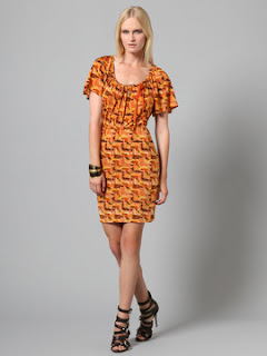 Tracy Reese printed jersey blouson dress $99 at Gilt! featured on Shopalicious.com