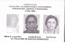 Las folkloristas ms destacadas de Gaspar Hernndez