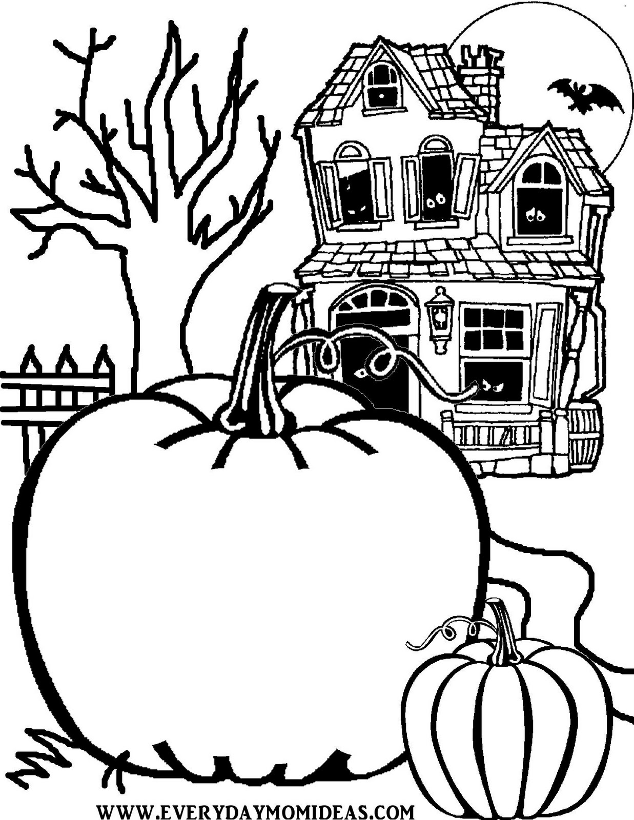 Jack O Lantern Coloring Pages to
