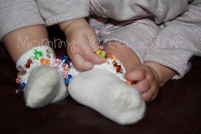 Mommy Creations crochet ruffle socks