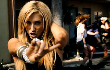 """... Ke$ha has unexpectedly outdone herself with an alternate video for """"Take It Off."""" This one, which exceeds the official version in production values, ..."""